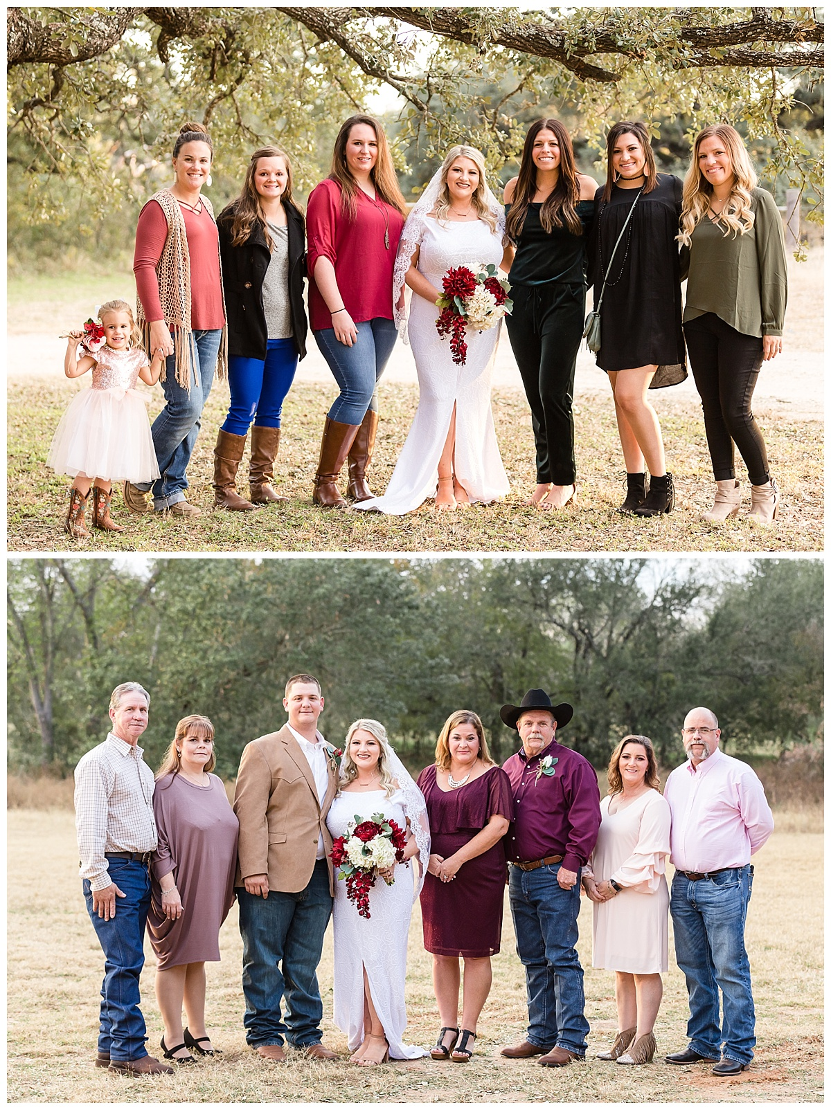 Wedding-Photographer-LaVernia-Texas-Ceremony-Under-the-Trees-Bride-Groom-Fall-McDonald-Carly-Barton-Photography_0008.jpg